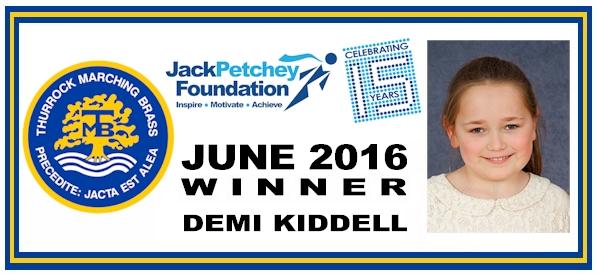JP - June 2016 winner - Demi Kiddell