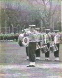 The author with Xavier HS Bugle Corps, 1964